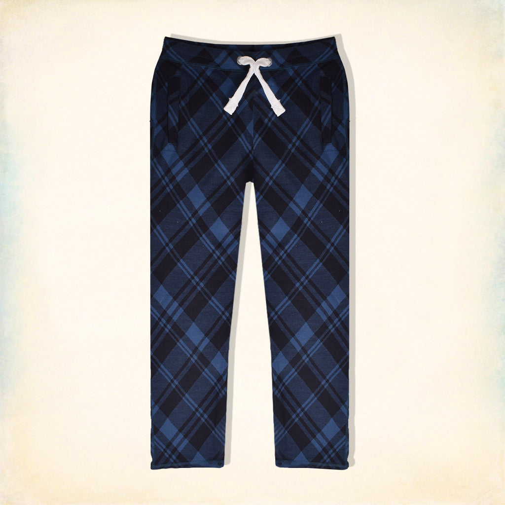 "Men's ""Tom Tailor"" Stylish Blue Melange & Black Check Regular Fit Stretch Trouser-TTT01"