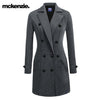 McKenzie Stylish Long Trench Coat For Ladies-Light Charcoal Melange-NA6772