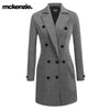 McKenzie Stylish Long Trench Coat For Ladies-Grey Melange-NA10036