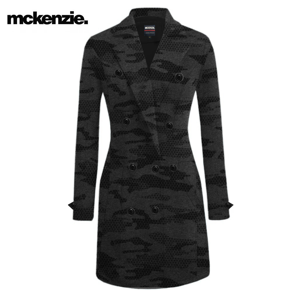 McKenzie Stylish Long Trench Coat For Ladies-Allover Print-NA10075