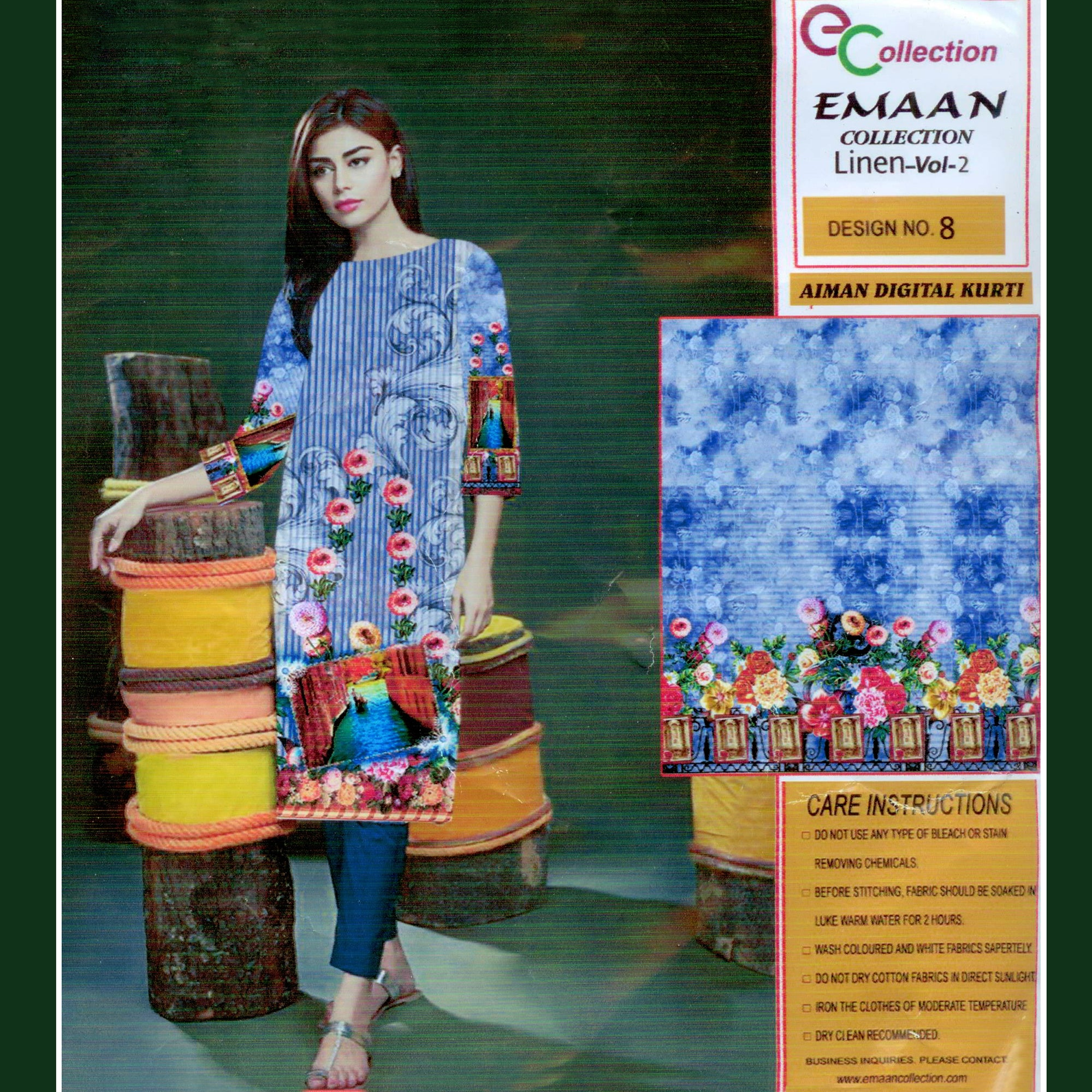 Emaan Collection Linen Kurti For Ladies-BE8385