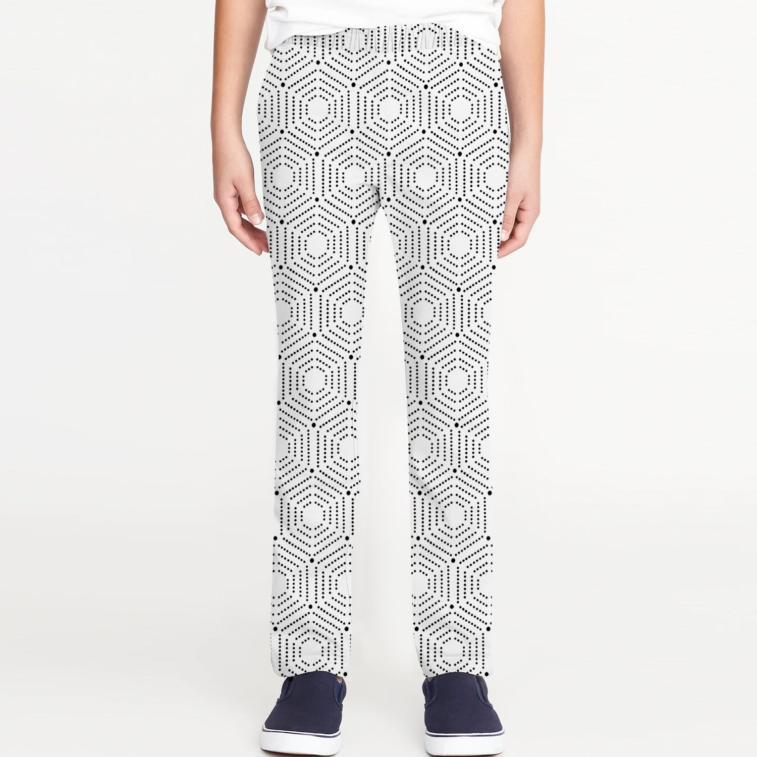 Zara Boy Slim Fit Flannel Trouser For Kids-White with Allover Print-BE9833
