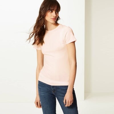 brandsego - Zara Cut Label Half Sleeve Stylish Viscose Tee Shirt For Women-BE8504