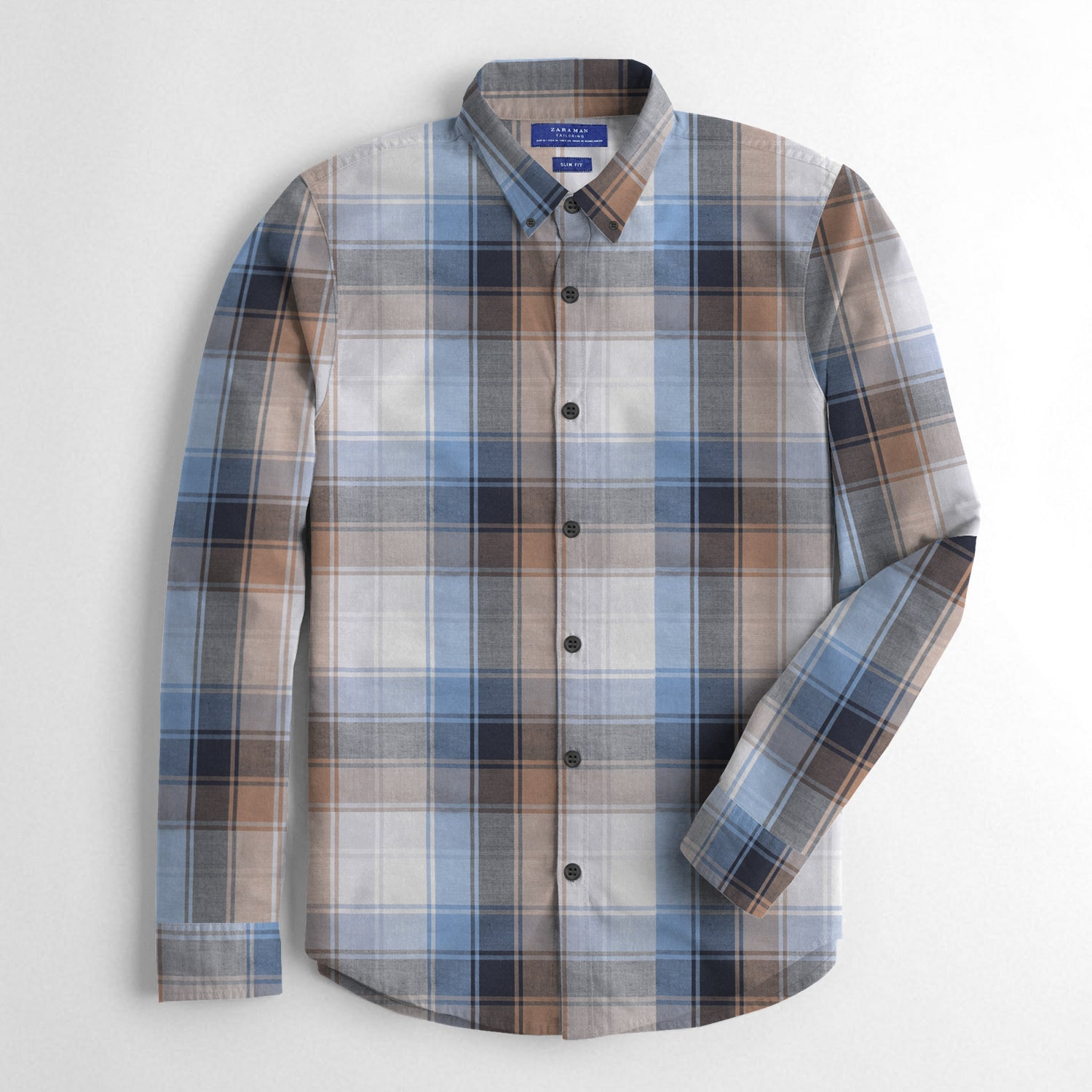 ZM Premium Slim Fit Casual Shirt For Men-Allover Check-BE12507