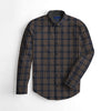 Zara Man Premium Slim Fit Casual Shirt For Men-Brown & Blue Check-BE9956