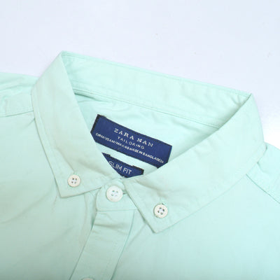 Zara Man Premium Slim Fit Casual Shirt For Men-Sea Green-BE9960