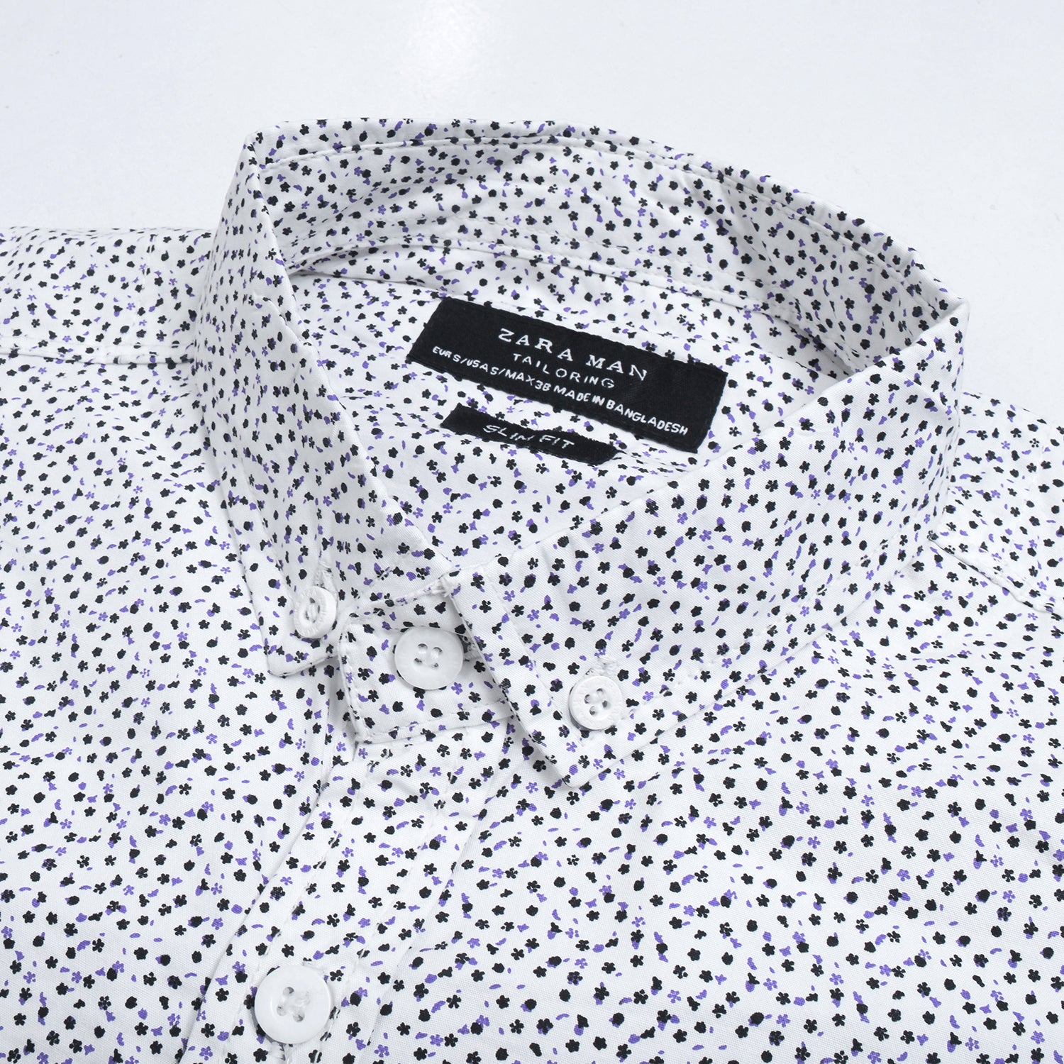 Brand New ZARA White Floral Printed Top size M