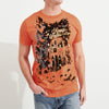 Zara Man Single Jersey Crew Neck T Shirt For Men-Orange-BE4652