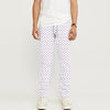 Zara Man Slim Fit Flannel Trouser For Men-White with Dotted-BE9802