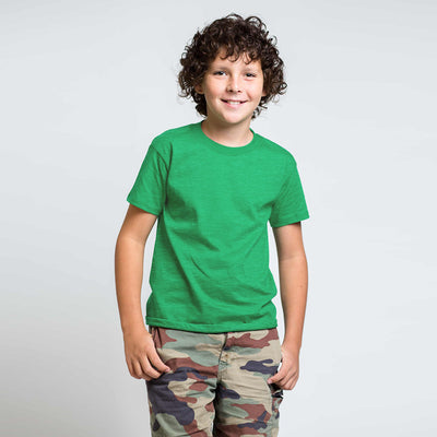 Savvy T Shirt For Kid-Green Melange-BE2513