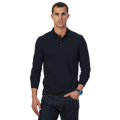 Ultra Club Full Sleeve Polo Shirt For Men-Dark Navy-BE2258