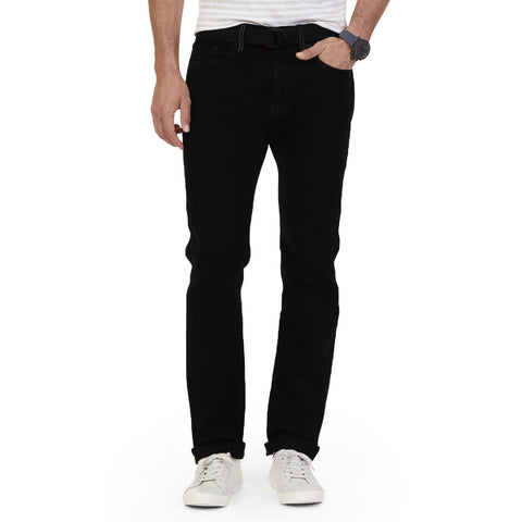 B Quality Men's 'AJ' Exclusive Stylish Regular Fit Cotton Denim's Black -CD12
