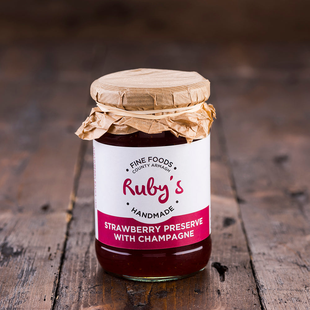 Ruby's Strawberry Preserve with Champagne