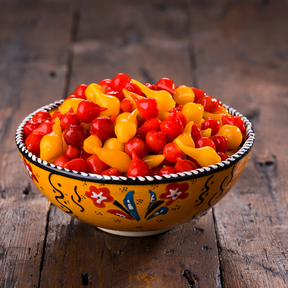 Mixed Red & Yellow Teardrop Peppers