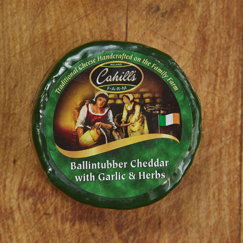 Irish Ballintubber Cheddar with Garlic and Herbs