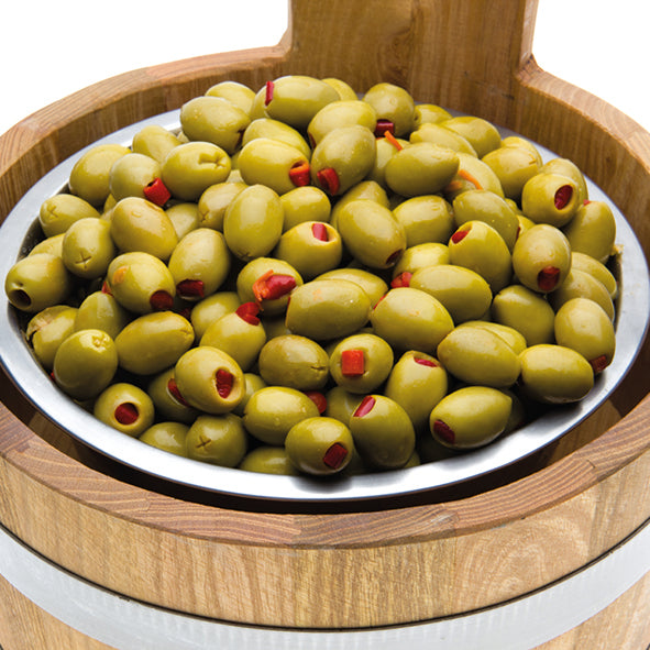 Red Pepper Stuffed Olives