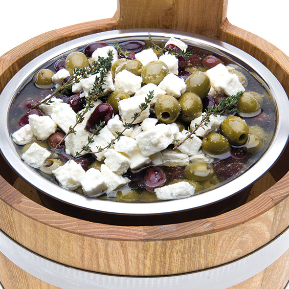Mixed Pitted Olives with Feta Cheese