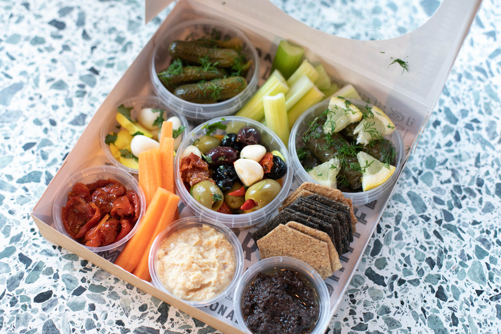 Tom & Ollie Vegan Mezze Tear and Share Party Box