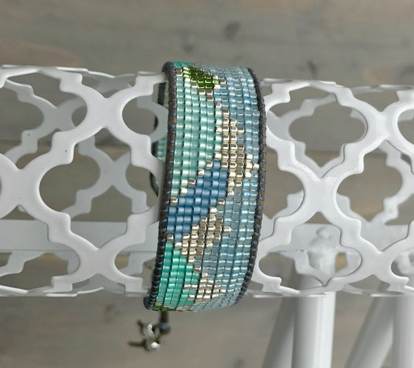 Abstract Mountain Loom Woven Handcrafted Bracelet