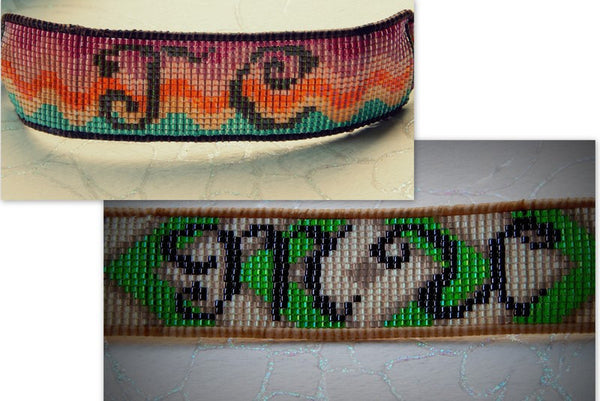Custom School Spirit Loom Woven, Monogram or Greek Letter Bracelet