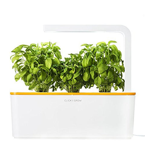 Click & Grow Indoor Smart Fresh Herb Garden Kit| Self Watering Planter & Patented Nano-Tech Medium For Plant Growth