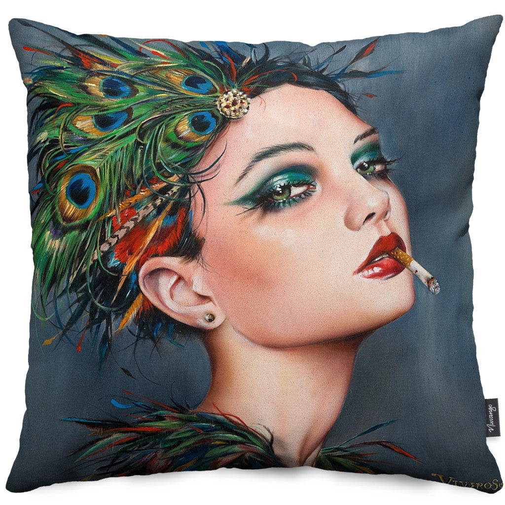 Feathers Throw Pillow - Nuvango Gallery & Goods