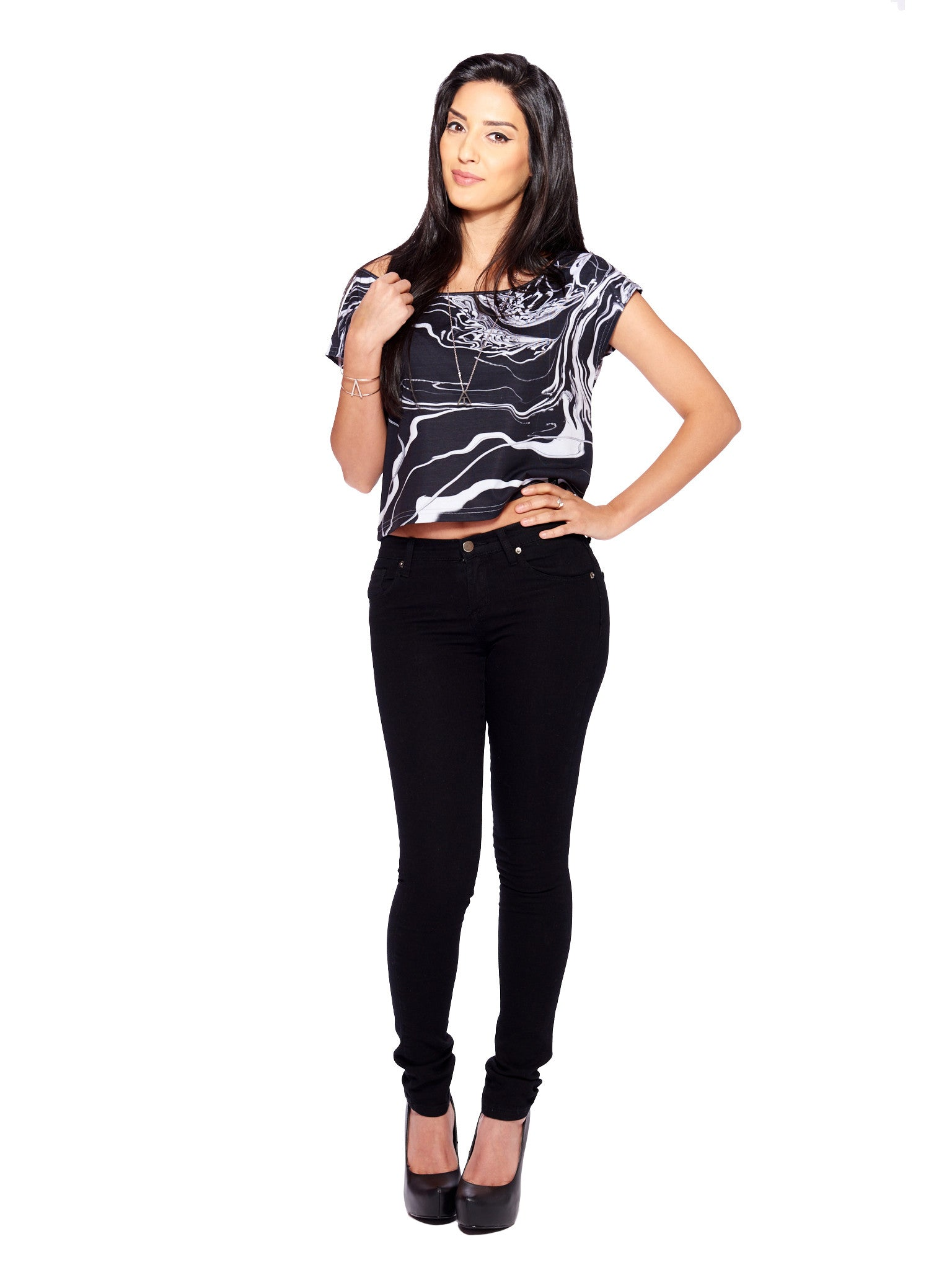 Eloquence Women's Crop Top - Nuvango Gallery & Goods - 2