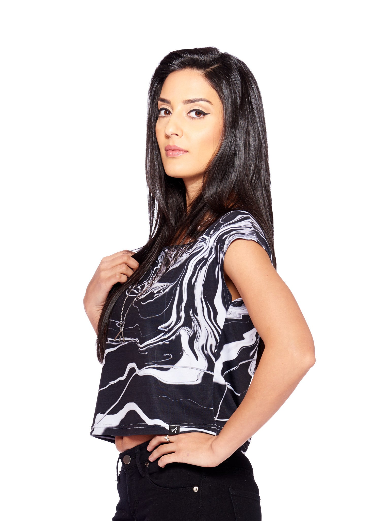 Eloquence Women's Crop Top - Nuvango Gallery & Goods - 1