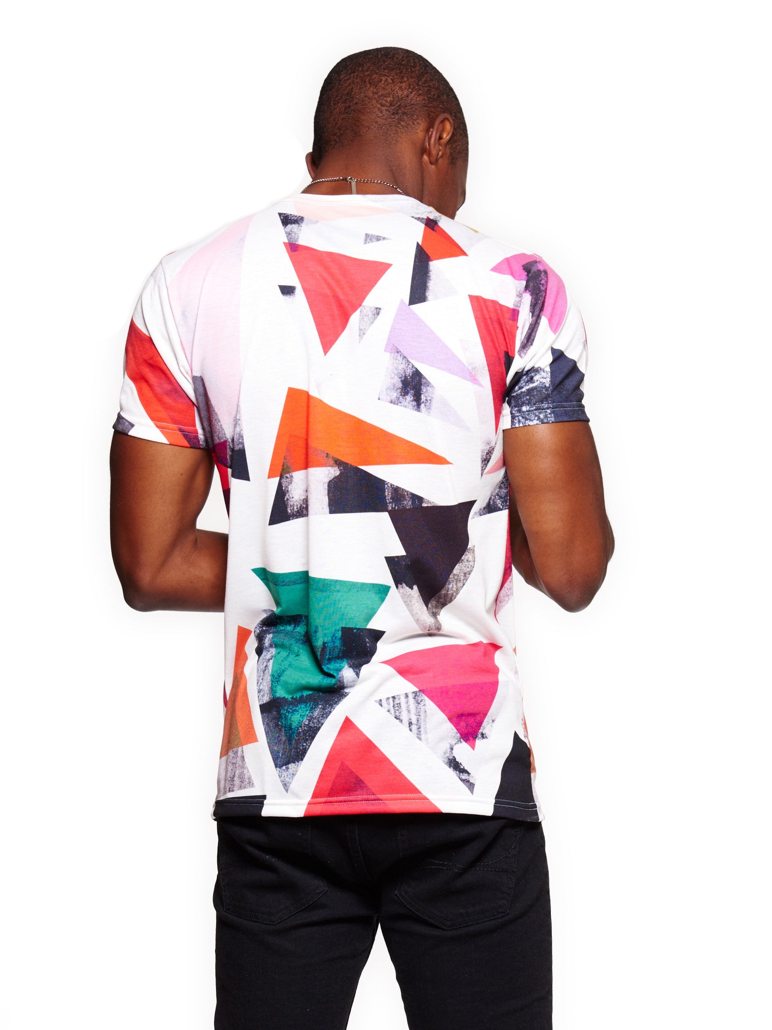 Triangle Pattern Men's Classic T-Shirt - Nuvango Gallery & Goods - 3