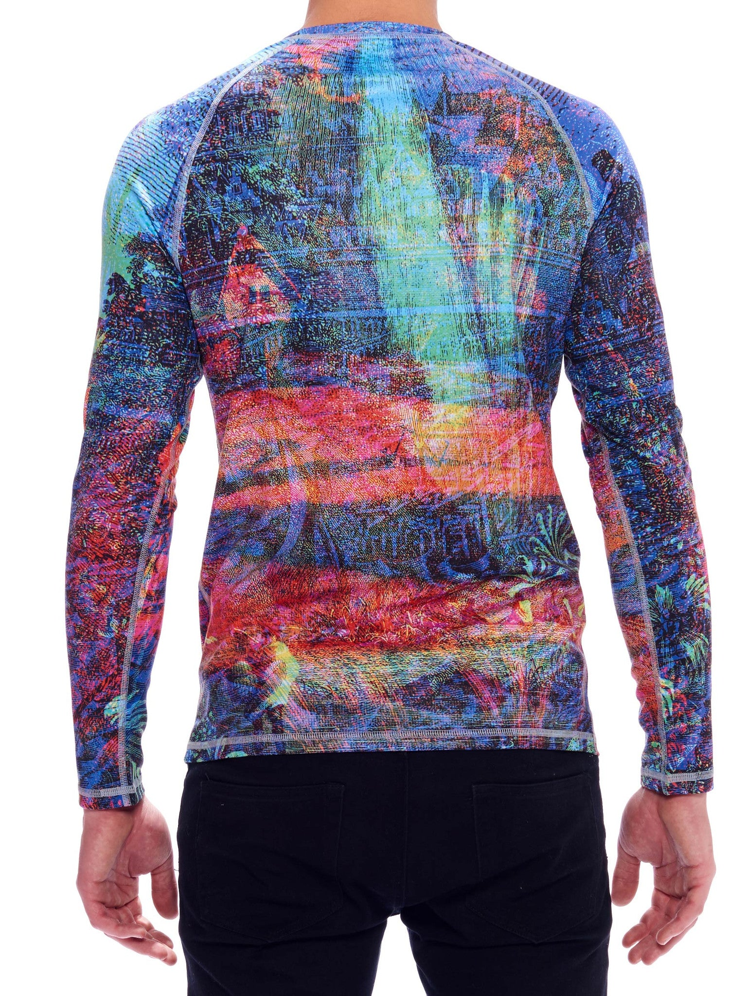 Landscape II Men's Baselayer Top - Nuvango Gallery & Goods - 3
