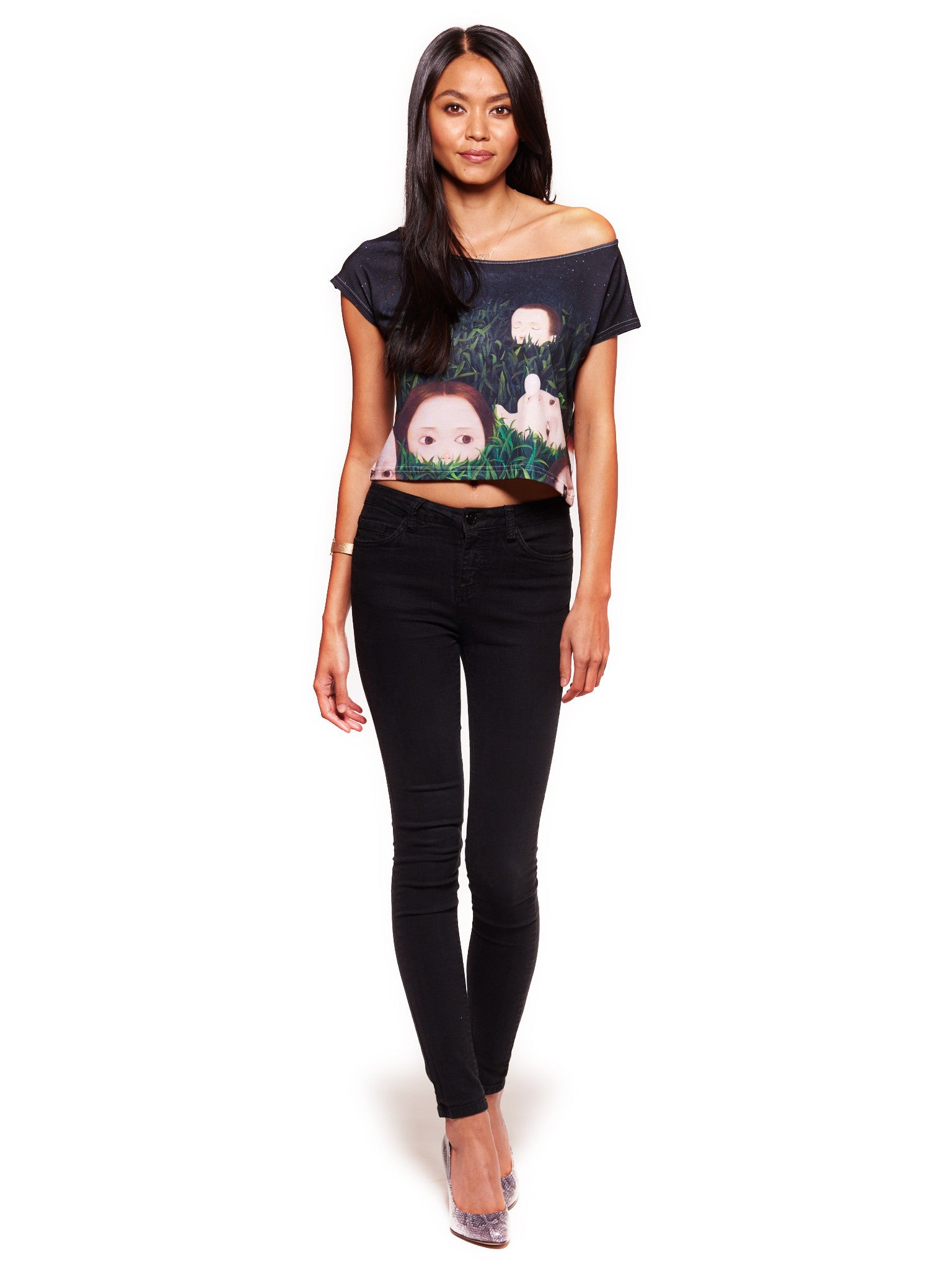 Wild Life Women's Crop Top - Nuvango Gallery & Goods - 3