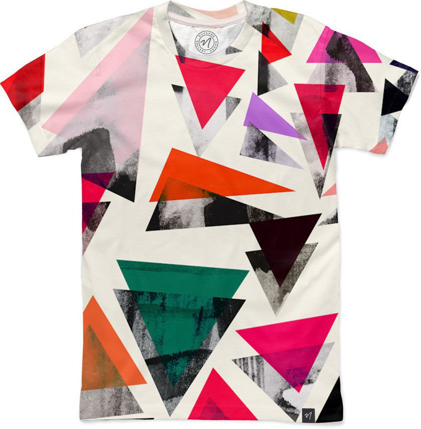 Triangle Pattern Men's Classic T-Shirt - Nuvango Gallery & Goods - 4