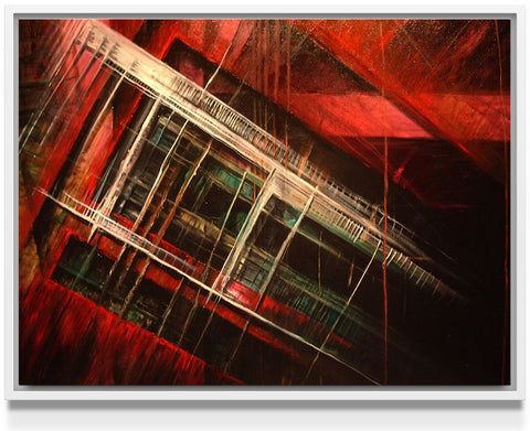 Dwelling Framed Stretched Canvas - Nuvango Gallery & Goods - 1