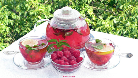 Raspberry Leaf Tea Image using Yandex