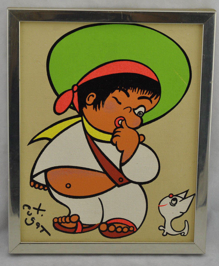 Estate Xavier Cugat Mexicano Framed Signed Painting