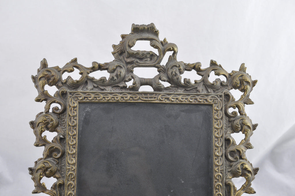 "Estate Antique Brass Frame French Bronze 13""x 15"""