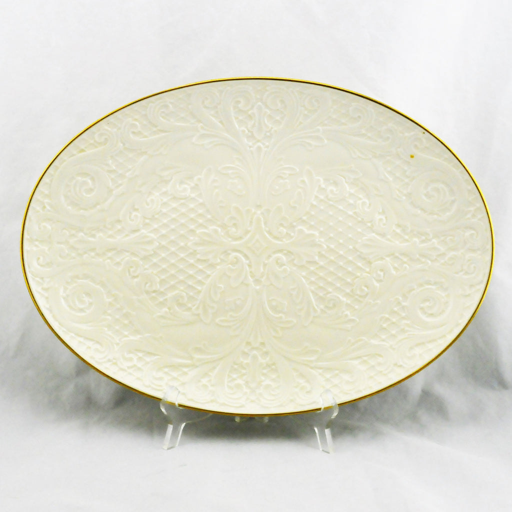 Authentic Lenox Dolphin Collection Oval Gold Trim Platter