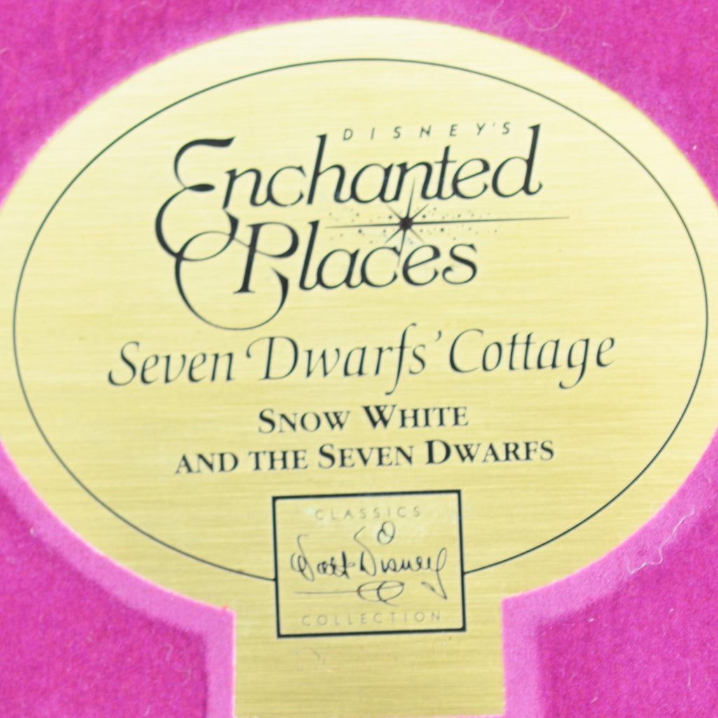 WDCC Enchanted Places Snow White Seven Dwarfs' Cottage with Base