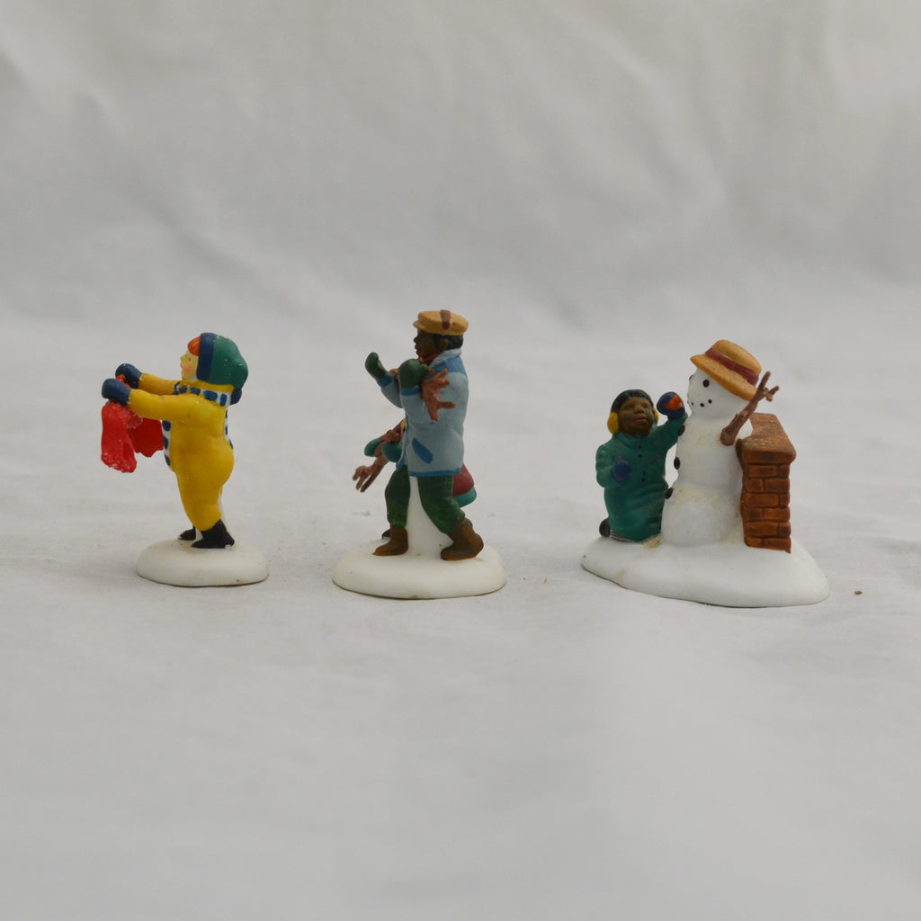 Heritage Village Collection Playing In The Snow 5556-5 Porcelain Figures