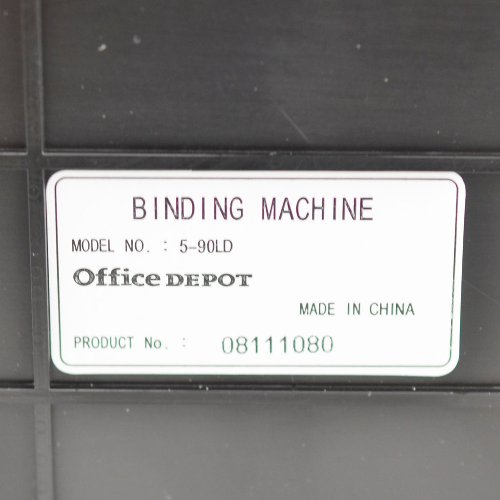 Office Depot Bind Pro 5-90LD Binding Machine