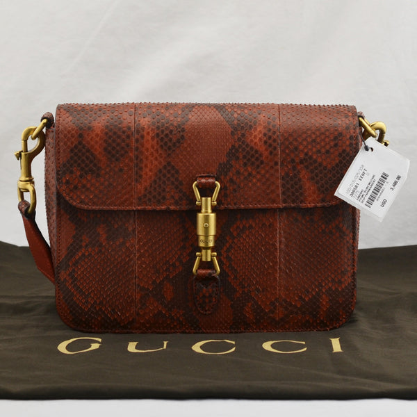 Gucci Jackie Python Shoulder Bag Purse 380581-520981