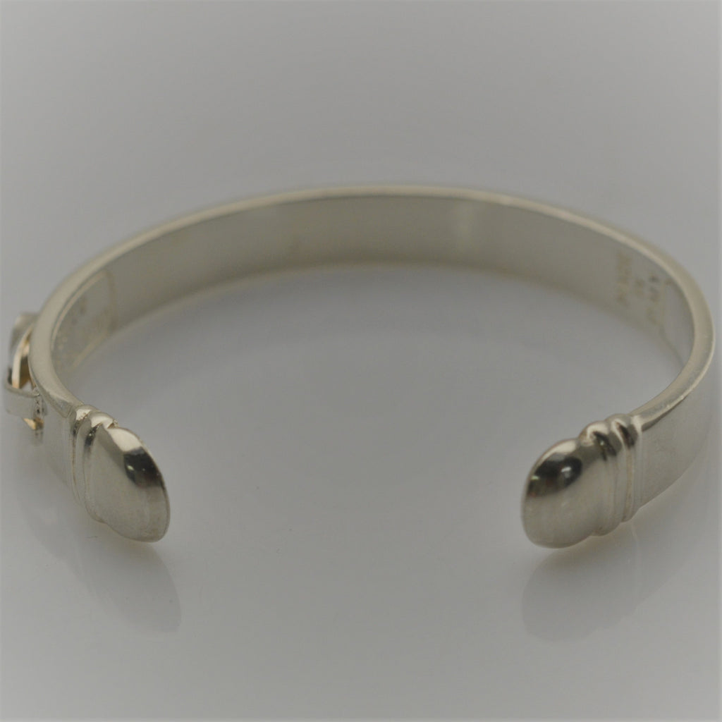 Silver 925 UNTIL THERES A CURE Cuff Breast Cancer Bangle