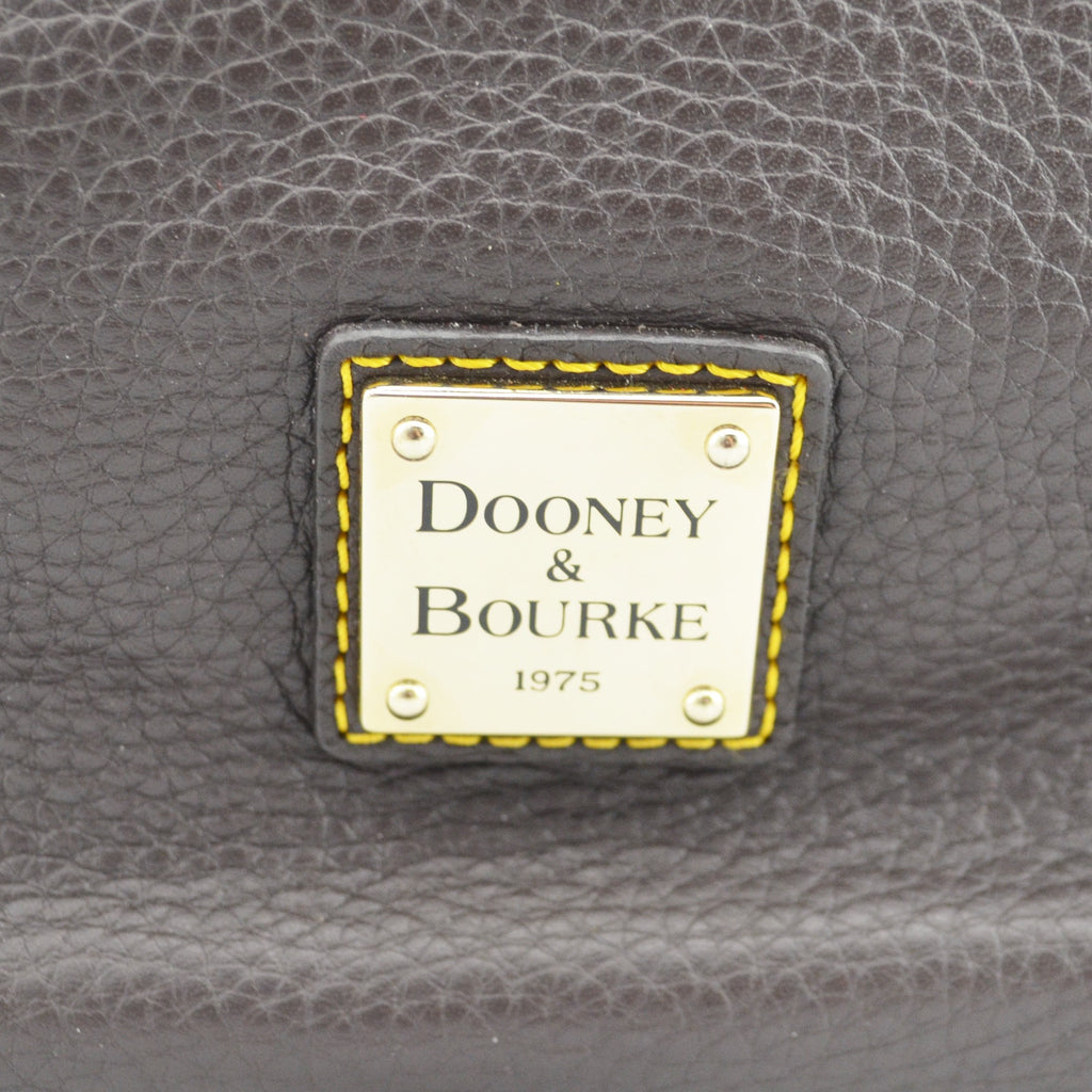 Dooney and Bourke Medium Brown Pebbled Leather Buckle Tote J4499853 Purse