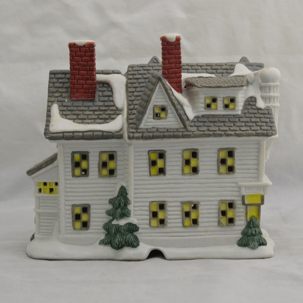 Norman Rockwell's Home Town Bisque Village Christmas Shops 4711-0734 Figure