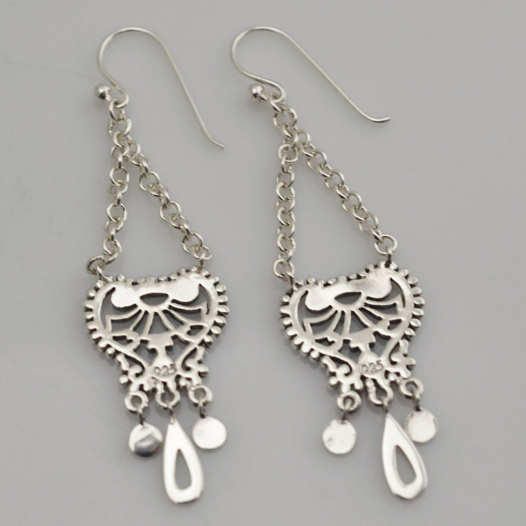 Mexican Sterling Silver 925 Dangle Earrings