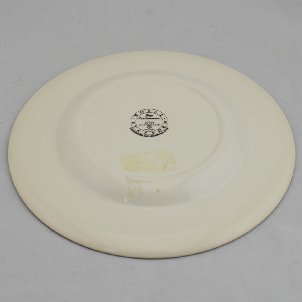 Hayride by Royal Stafford Brown and White Plate