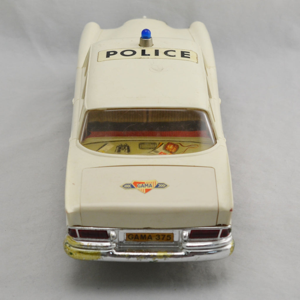 Vintage Gama Mercedes Toy Police German Remote / Battery Car