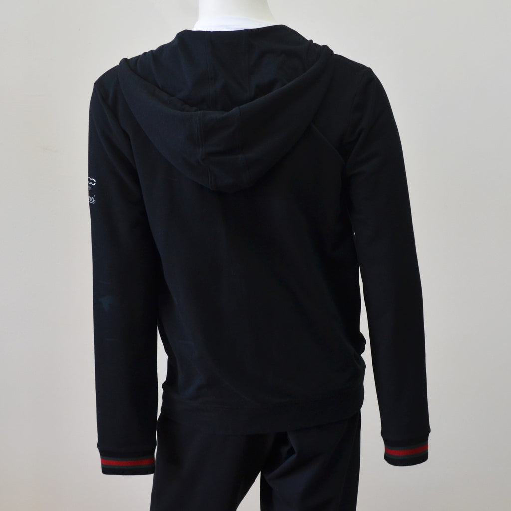 Gucci 267809 500 by Gucci Black Cotton Hooded Men's Sweater Size XXL