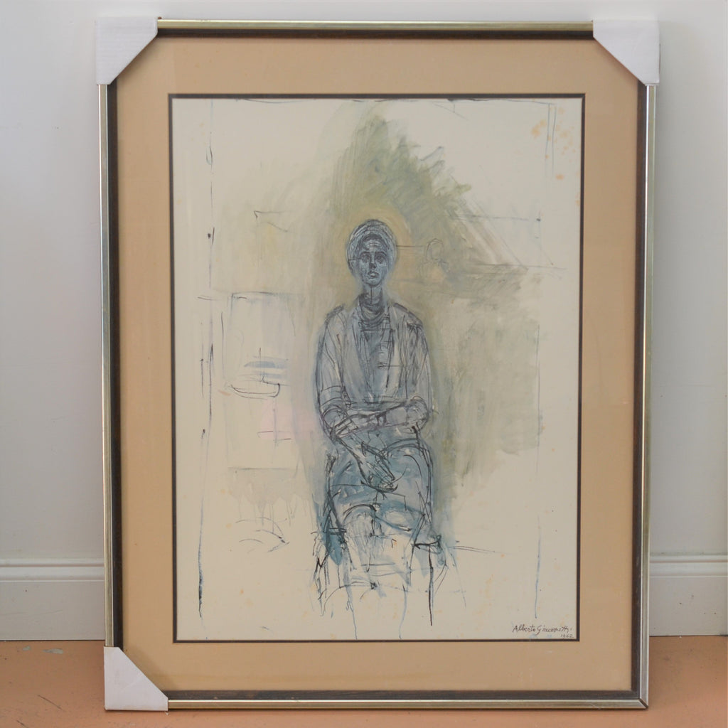 caroline alberto giacometti framed signed 1962 32 x 24 inch oil painting