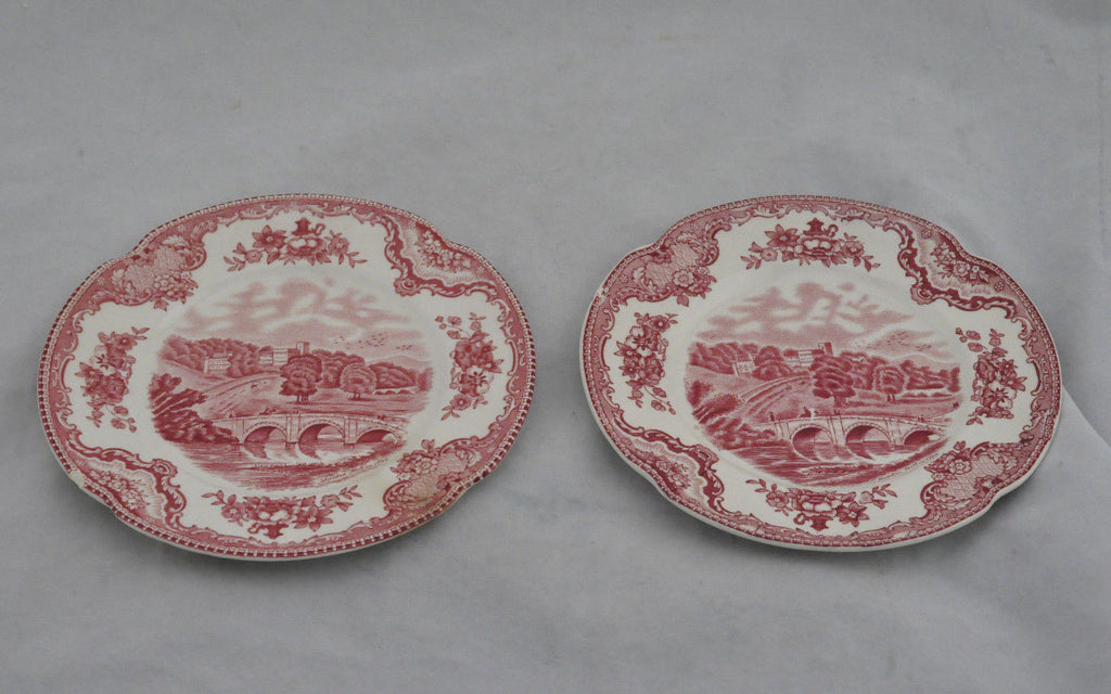 Vintage Johnson Bros Haddon Hall Old Britain Castles Porcelain Bread Plates
